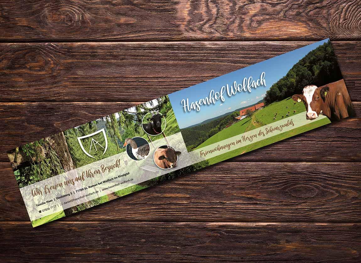 Flyer Hasenhof Wolfach St. Roman Ferienwohnungen Schwarzwald