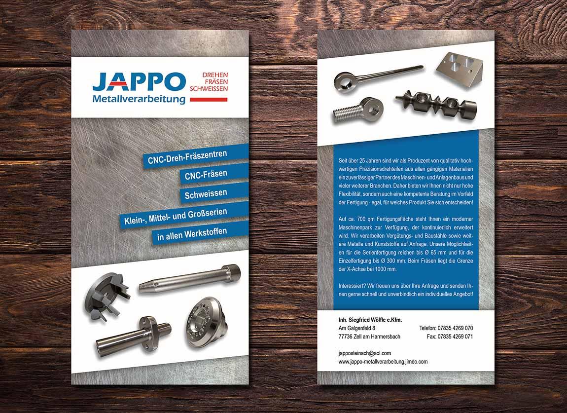 Flyer Jappo Metallverarbeitung Zell am Harmersbach