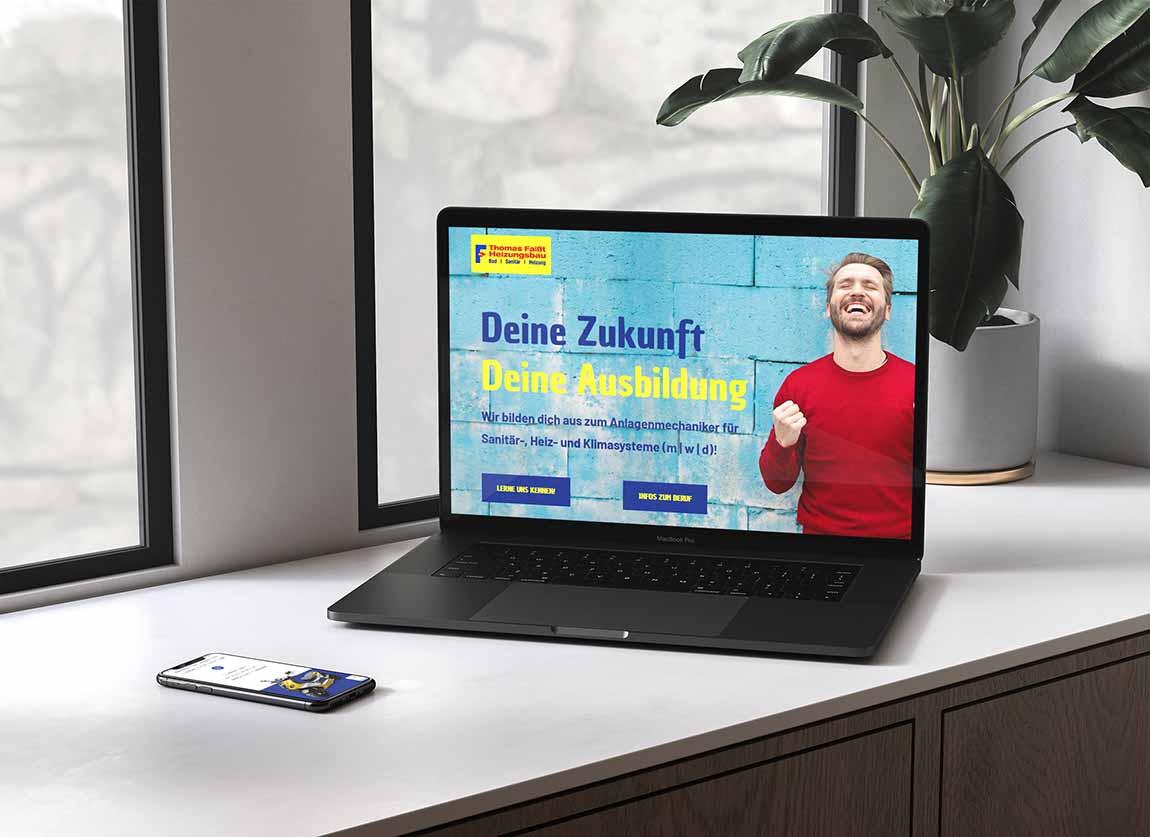 Ausbildungsmarketing Website Thomas Faißt Bad Sanitär Heizung Lahr Sulz
